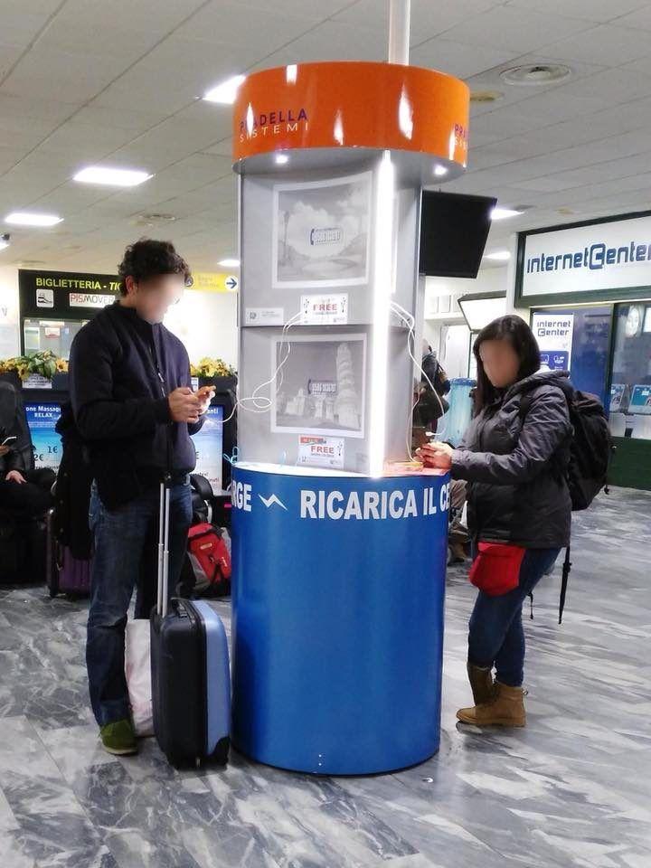 Charge Point Pila Modello 1.02 | Aeroporto di Pisa Galileo Galilei