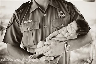 Dad is my hero. newborn portraits. state trooper, cop, fireman, military chelseatx