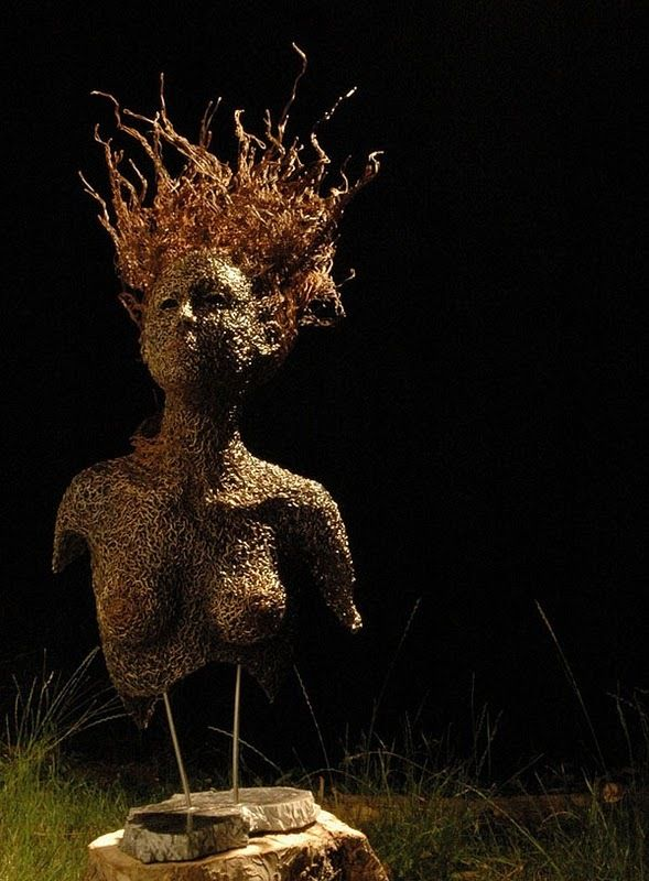 17 best Wire Sculpture images on Pinterest | Wire sculptures ...