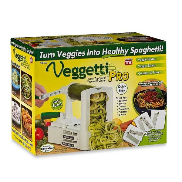 Product Image for Veggetti® Pro Tabletop Spiral Vegetable Cutter 1 out of 3