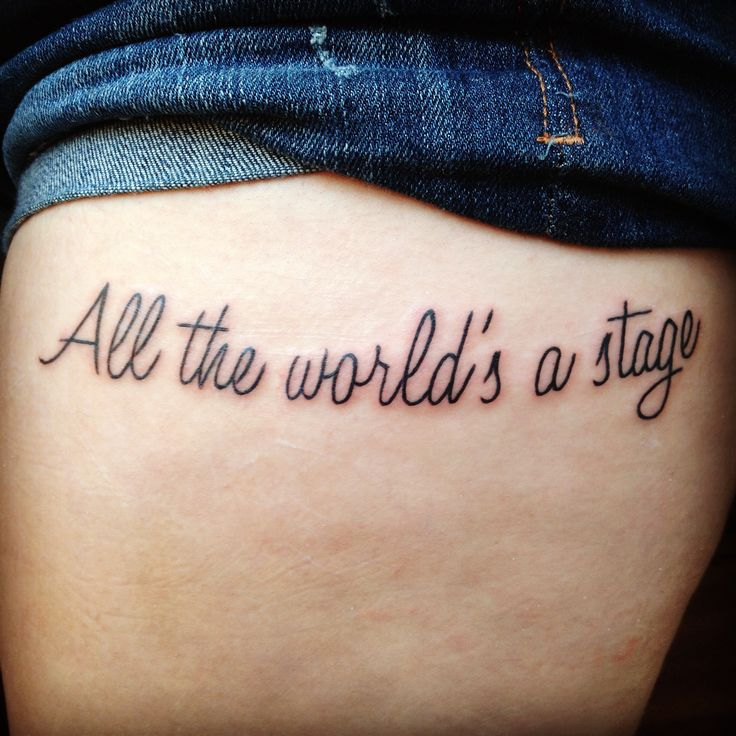 New Tattoos Quote: My New Tattoo, William Shakespeare Quote, All The World's