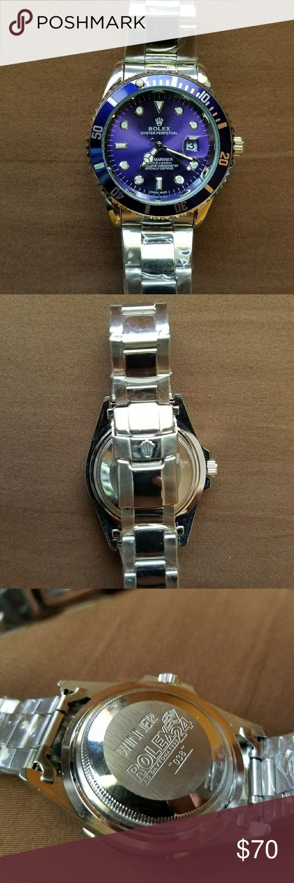 Mens watch Brand new with plastic wrap still on. rolex Accessories Jewelry