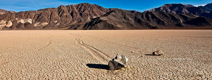 Mysterious Sailing Stones Racetrack Playa, Death Valley