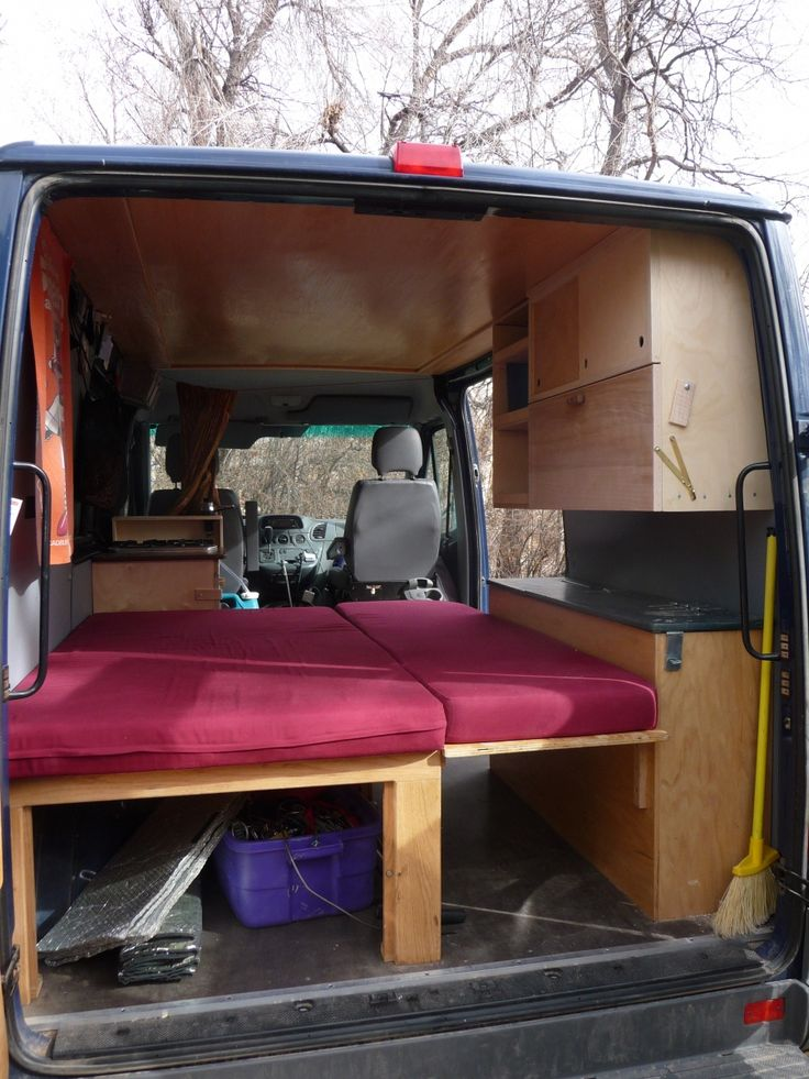 "Foldout bed in ""Dudley"" DIY Sprinter conversion. Making"