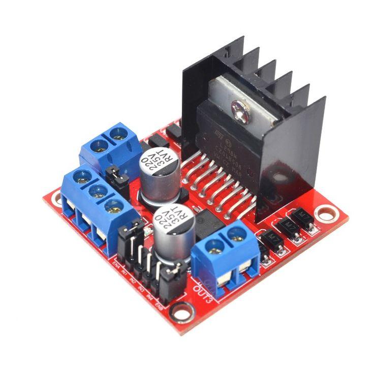 Gratis Pengiriman 1 PCS New Ganda H Bridge DC Stepper Drive Motor Dewan Controller Modul L298N untuk Arduino