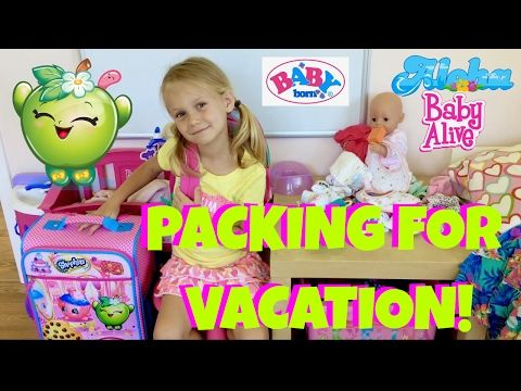 (84) 🎒Baby Born On Vacation! 🏖 Skye and Caden Get Emma Ready for a Trip 🚗 - YouTube