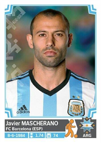 125 Javier Mascherano - Argentina - Copa America Chile 2015 - PANINI
