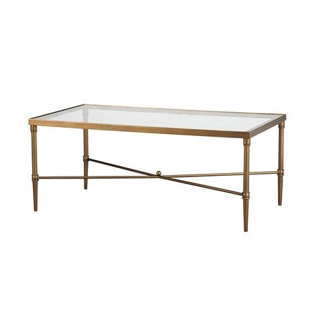 $230 – The sturdy bronze metal finished frame and beveled glass top makes this table the center off attention.