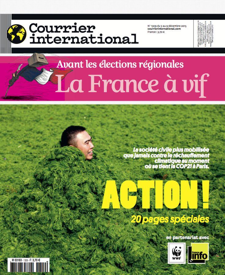 Courrier international n° 1309 : Action ! La société civile plus mobilisée que jamais contre le réchauffement ....
