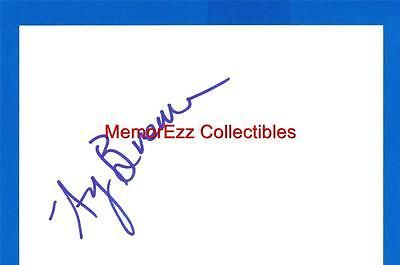 AMY BRENNEMAN Judging Amy & Private Practice SIGNED Autograph 4x6 Index Card