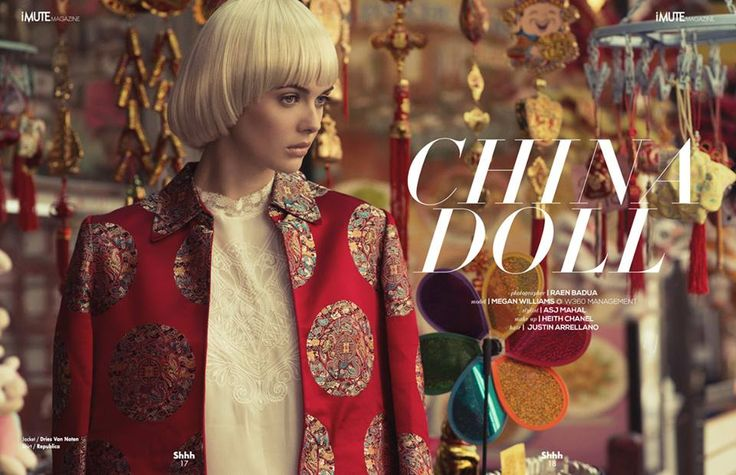 China Doll Editorial - iMute Magazine Summer Issue #11 2015 Photographer | Raen Badua Photography and Graphic Design Model | Megan Williams @ W360 Management Stylist | Asj Mahal Make up | Makeup Artist Heith Chanel Hair | Justin Arrellano
