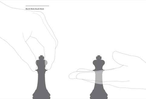Different holds - World Chess set by Daniel Weil