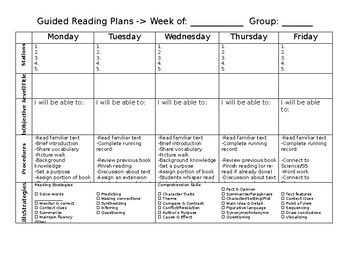 The Best Guided Reading Template Ideas On Pinterest Guided - Guided reading lesson plan template