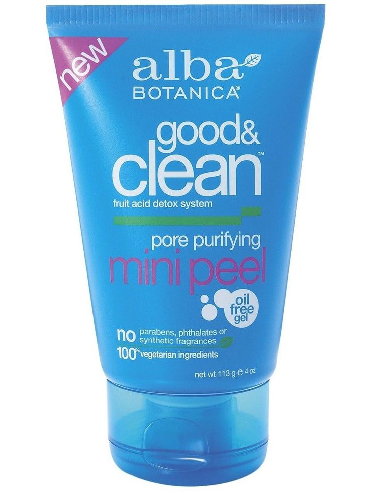 """""""Alba Botanica Good & Clean Pore Purifying Mini Peel is an amazing AHA peel with fruit acids. It smells like grapefruit, and has completely changed my skin for the better. My texture is smoother, my dry patches have disappeared, and my acne is almost completely non-existent. And it's so easy too, slather it onto your clean face every couple of days for five minutes, and rinse off. I honestly can't live without it."""" —gretcheno3Get it from Amazon for $4.39 or from Target for $4.39."""