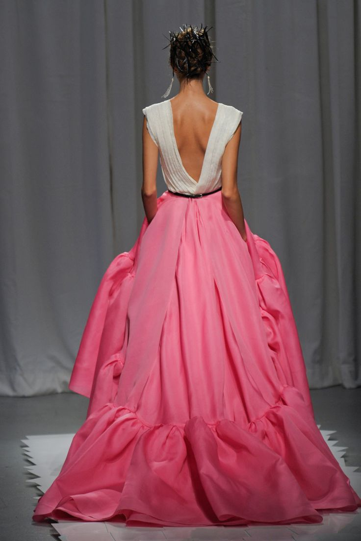 pink rufflesFull Skirts, Wedding Dressses, Ball Gowns, Spring Colors, Dresses, Jason Wu, Pink Fashion, Open Back, Pink Gowns
