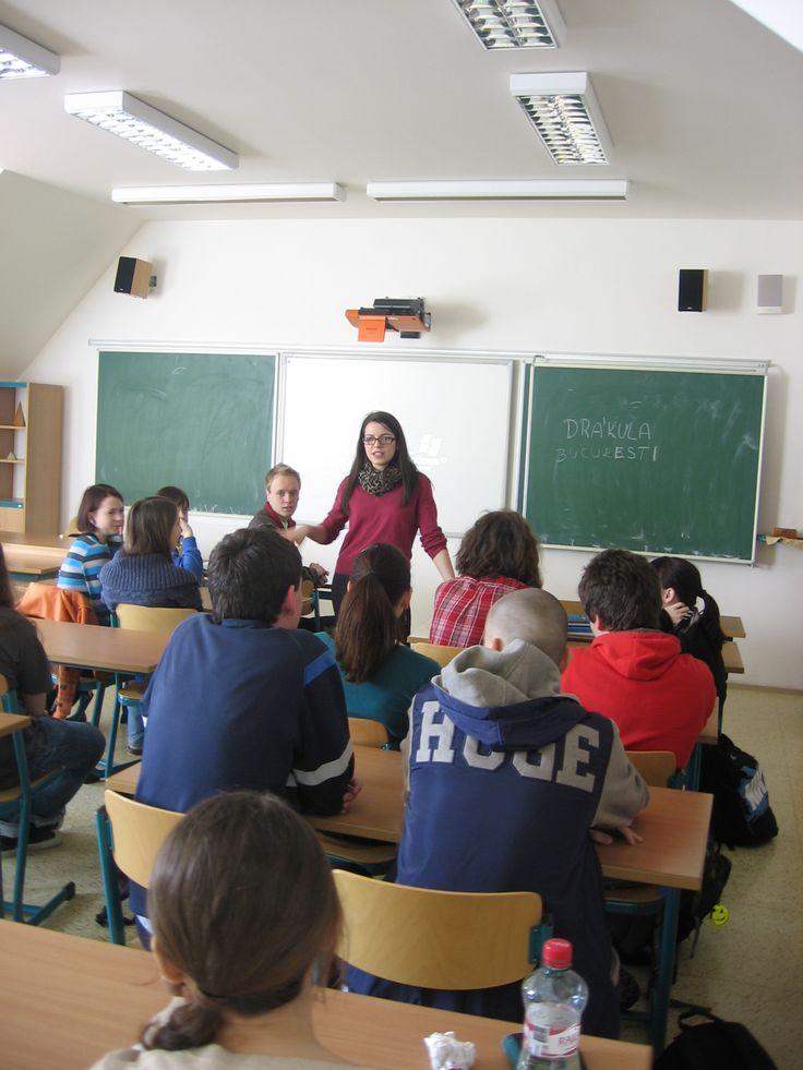 Public speaking about Romania