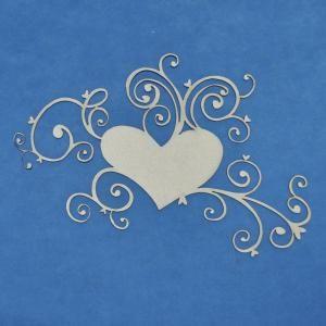 A2Z Scraplets chipboard shapes - Heart & Swirl 7