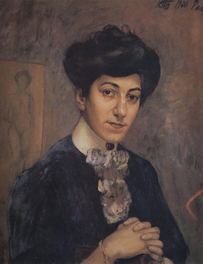 Петров-Водкин. Портрет жены художника. 1906