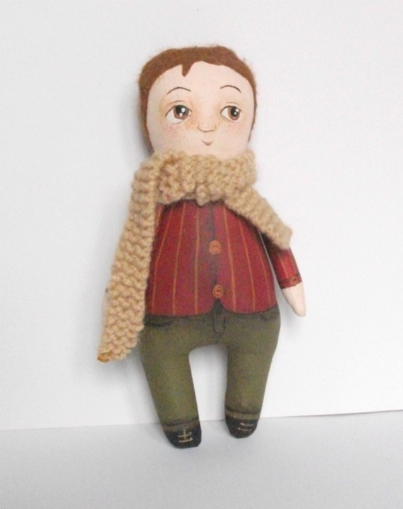 Oscar mini art doll by MademoiselleG on Etsy