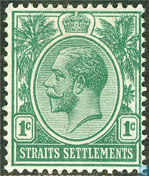 Straits Settlements (British Malaya) - King George V 1912