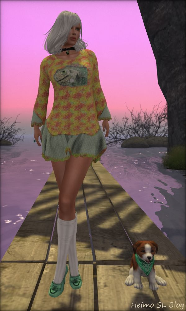 Heimo SL blog post with fashion, pet collie etc. http://heimoslblog.blogspot.fi/2016/07/sunset.html #SecondLife #SLfashion