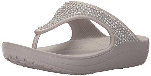 50% OFF SALE PRICE - $17 - crocs Women's Sloane Diamante Flip Flop