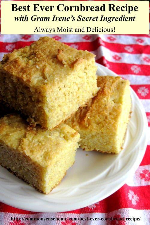 Gram Irene S Best Cornbread Recipe Gluten Free Cooking