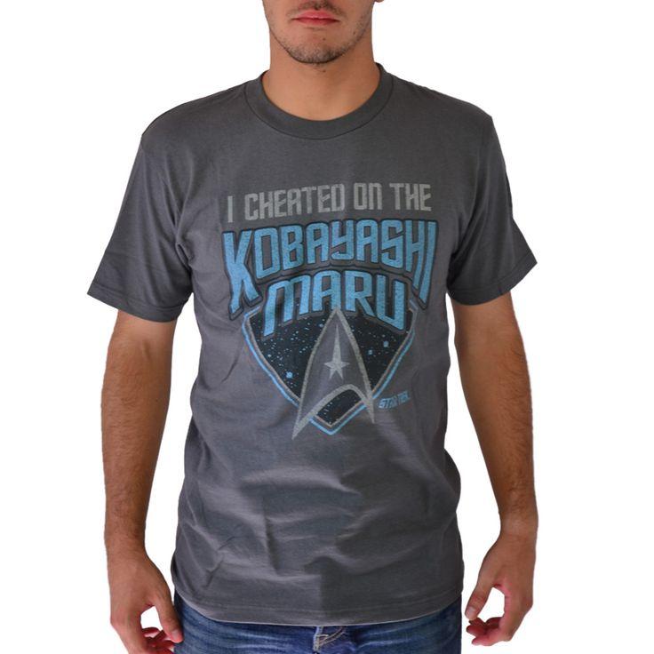 Star Trek Kobayashi Maru Grey Licensed T-shirt