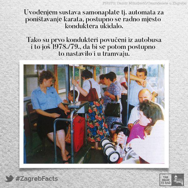 Pocetkom 1980 Ih Pocinje S Motornim Kolima Oko 1987 Prva Prikolica A Oko 1990 I Druga Prikolica Jedno Su Vrijeme Kondukteri Ca Baseball Cards Zagreb Facts