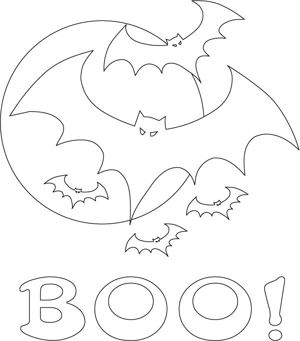 halloween coloring pages: Halloween Bat Coloring Pages, Flying ...