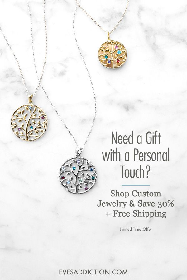 bed4c8b5d Create the perfect personalized gift with a Custom Birthstone Family Tree  Pendant from Eve's Addiction's stylish custom birthstone jewelry.