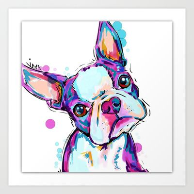Boston terrier  by Cartoon Your Memories