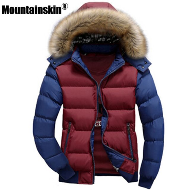 Check current price Mountainskin Men's Winter Jackets 4XL Thick Hooded Fur Collar Parka Men Coats Casual Padded Men's Jackets Male Clothing SA075 just only $24.68 - 28.63 with free shipping worldwide  #jacketscoatsformen Plese click on picture to see our special price for you