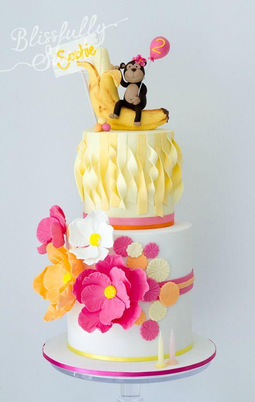 Banana and monkey cake by Blissfully Sweet