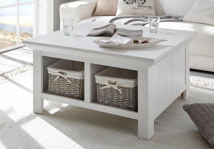 couchtisch mit truhe feres in pinie weiss nachbildung 93x50x93cm in 2019 we love summer. Black Bedroom Furniture Sets. Home Design Ideas