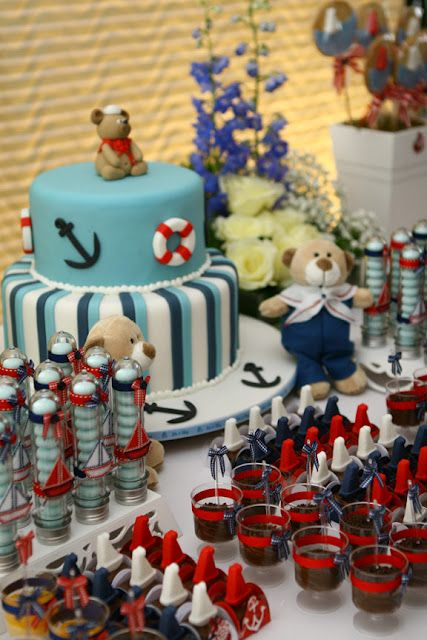 Idea para baby shower de #Navy.