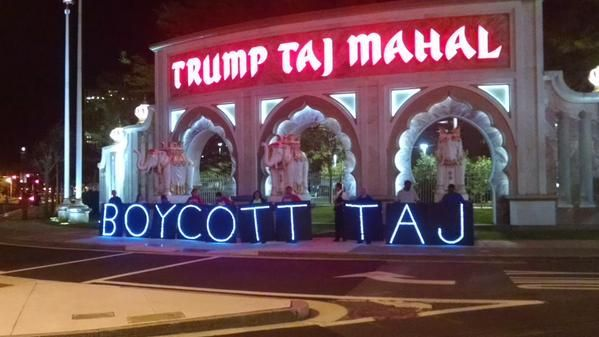 Unite Here Local 54 in Atlantic City is asking visitors to boycott Tropicana and Trump Taj Mahal properties during Labor Day weekend.