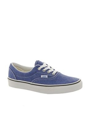 Vans Denim Distressed Lace Up Trainers