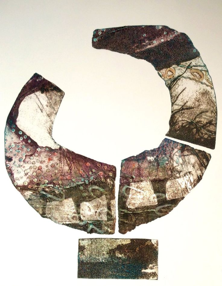 Collagraph with silver leaf https://www.facebook.com/Clare-Maria-Wood-543749045653327/