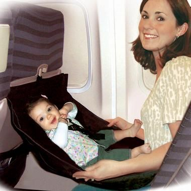 Clever idea attaches to the back of an airplane seat.