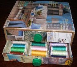 Ahora mi costurero está en orden y todos mis hilos de colores organizados.