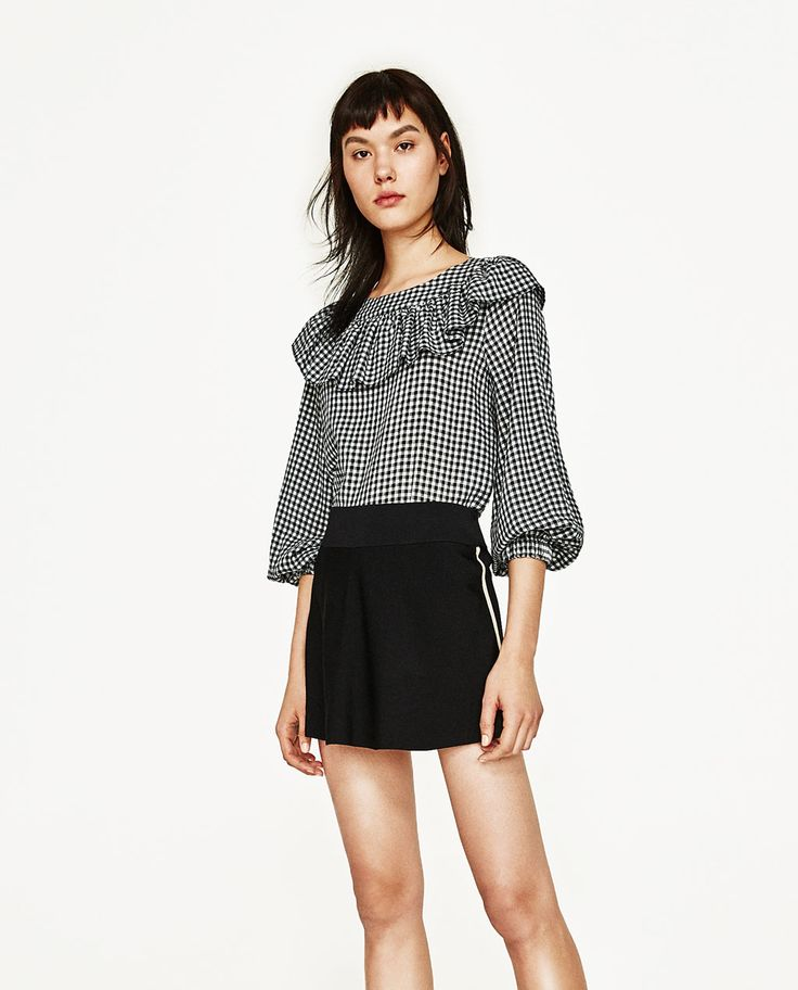 FRILLED GINGHAM TOP-View All-TOPS-WOMAN | ZARA United States