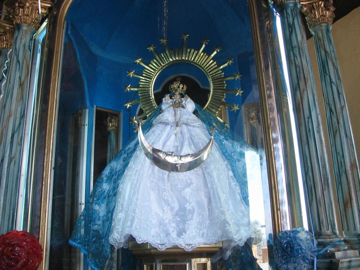 Statue of Our Lady of the Remedies, outdoor chapel, Our Lady of the Remedies Church, Cholula, Puebla. MADONNAS OF MEXICO