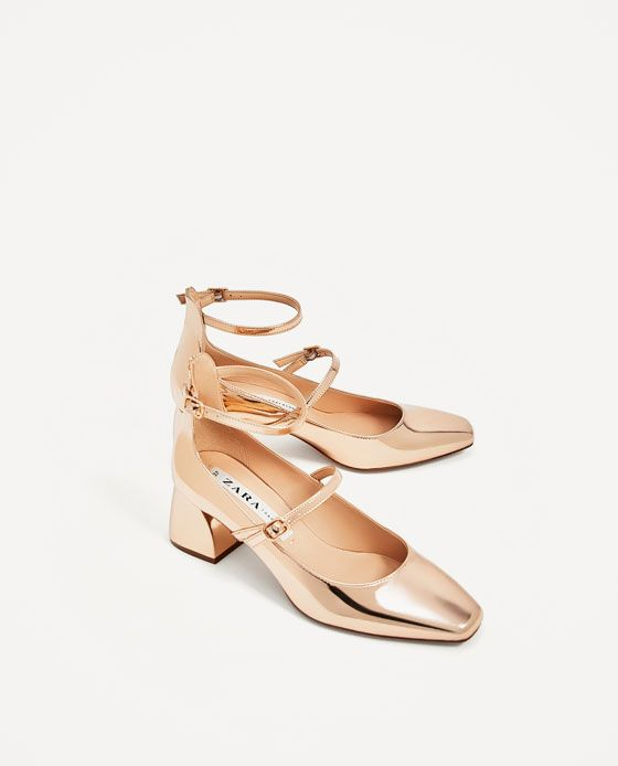 ZARA - WOMAN - STRAPPY HEELED BALLERINAS