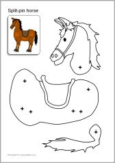 Split-pin Royal Guard and horse (SB8020) - SparkleBox
