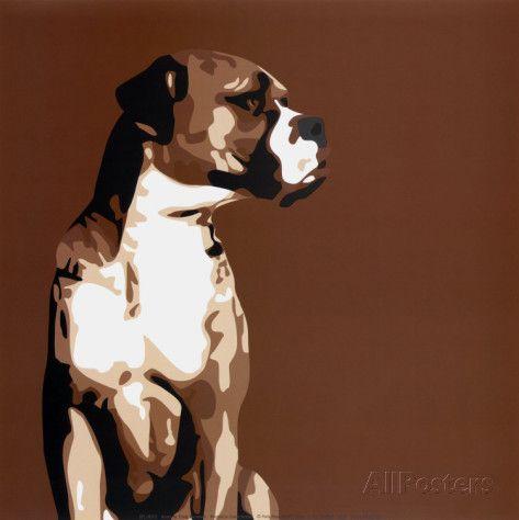Boxer Reproduction d'art
