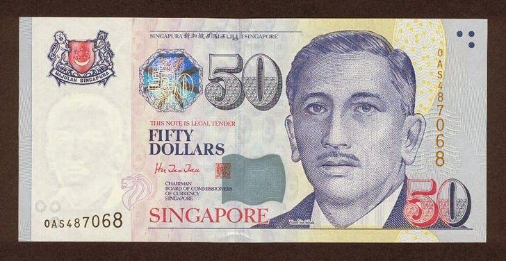 Singapore banknotes 50 Dollars banknote Portrait Series (1999–present). Singapore dollar, Singapore banknotes, Singapore paper money, Singapore bank notes, Singapore dollar bills - world banknotes money currency pictures gallery.