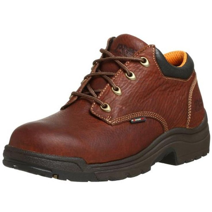Timberland 0871 Mens Titan Brown Leather Work Oxfords Shoes 8.5 Medium (D) BHFO #Timberland #Oxfords