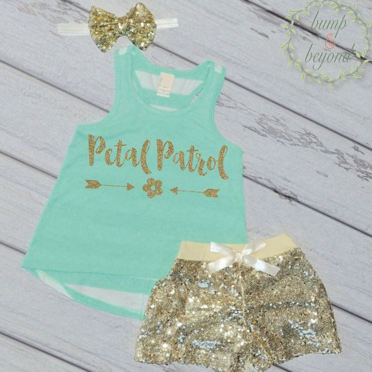 Petal Patrol Flower Girl Outfit - Tank, Shorts and Headband. This adorable set…