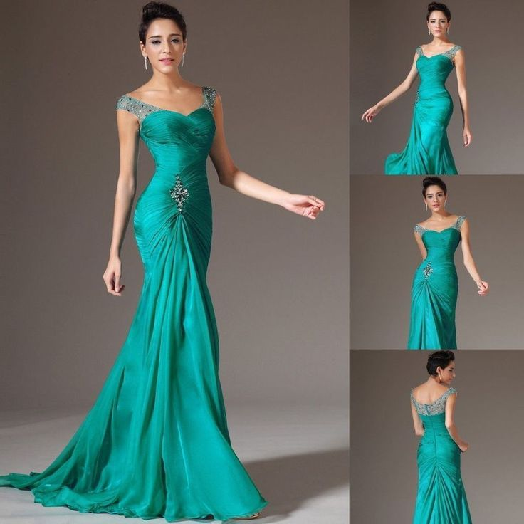 Sexy elegant Mermaid Chiffon Bridal Prom Dress Formal Wedding Evening party Gown in Clothing, Shoes & Accessories | eBay